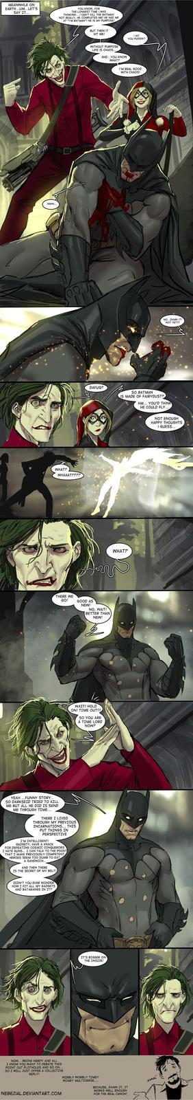 it's simple, we kill the doctor!..no wait..batman!
