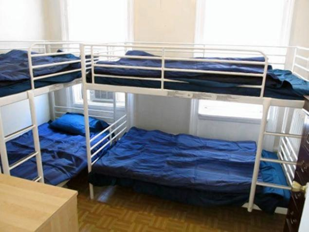 "Upper West Side, Manhattan. $649.00 ""One bed in shared room with 3 other girls. There are bunk beds."""