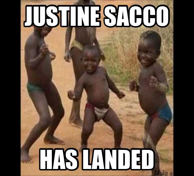 Justine Sacco has landed
