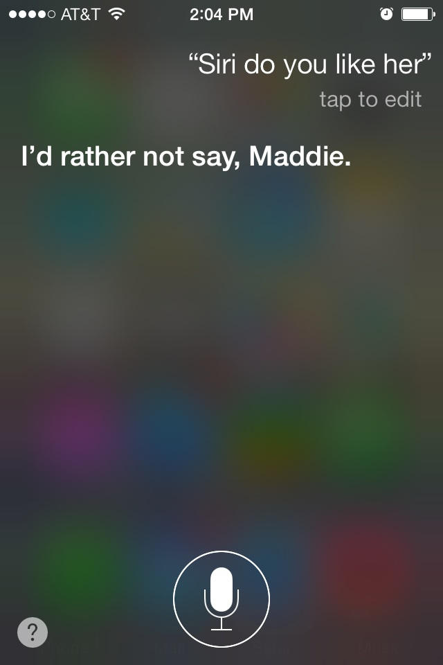 Siri Really Doesn't Like Her