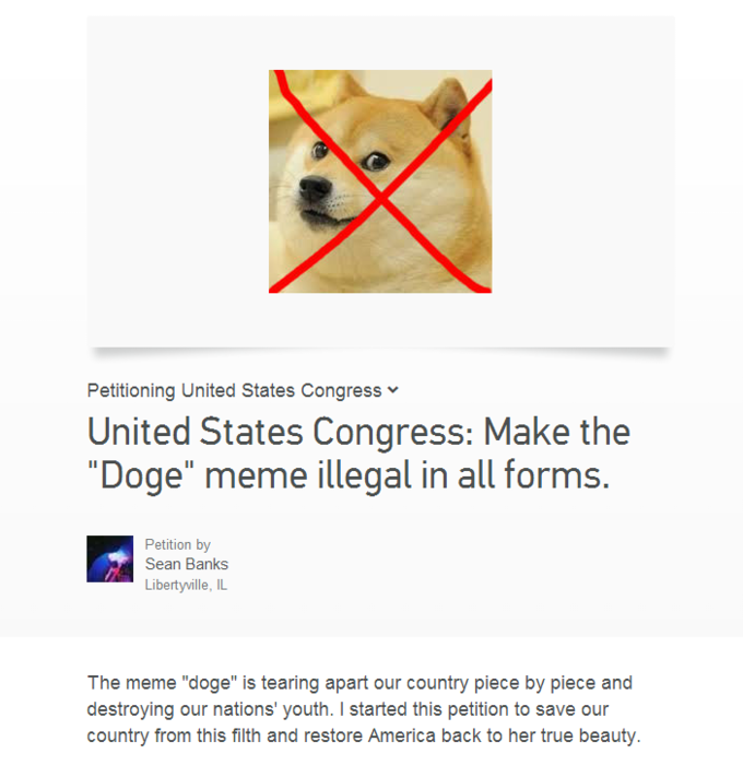 No joke, someone actually made this petition