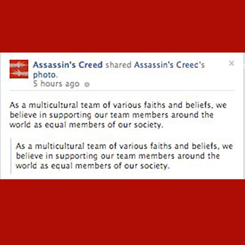 Assassin's Creed for Marriage Equality pt.2