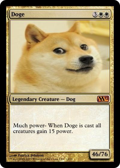 Doge Magic Card