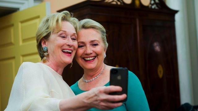 Streep/Clinton Selfie
