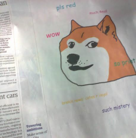 Wow, very newspaper, much advert