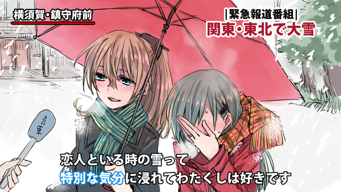 Japanese Couple's Snow Storm Interview - KanColle