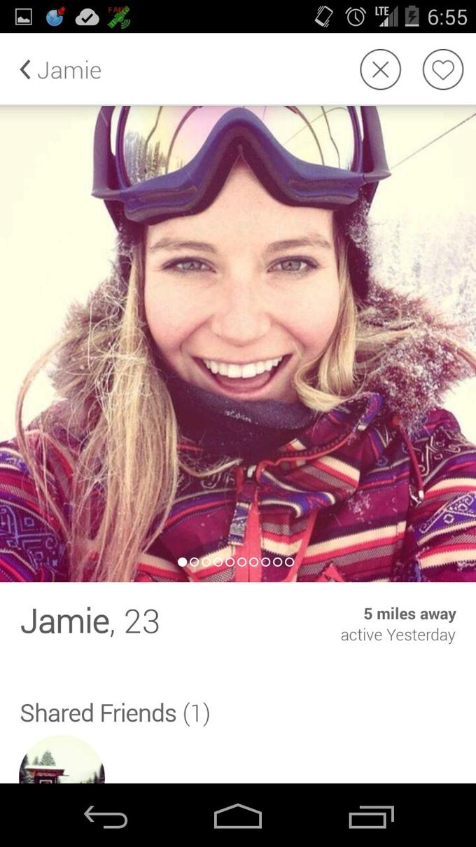 tinder dating girl profile
