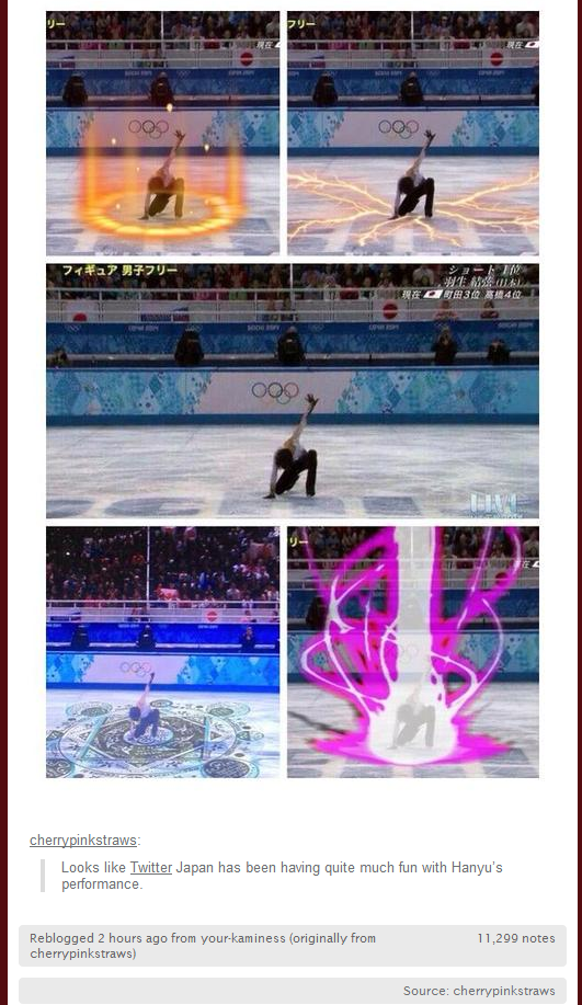 Japanese Figure Skater Hanyu Yuzuru Transmutates on Ice