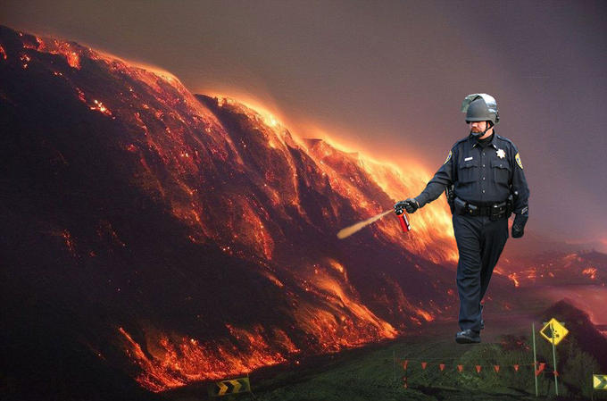 Coal Mine Fire Cop