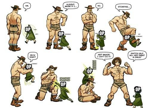 Saxton Hale Will Not Fight A Child!