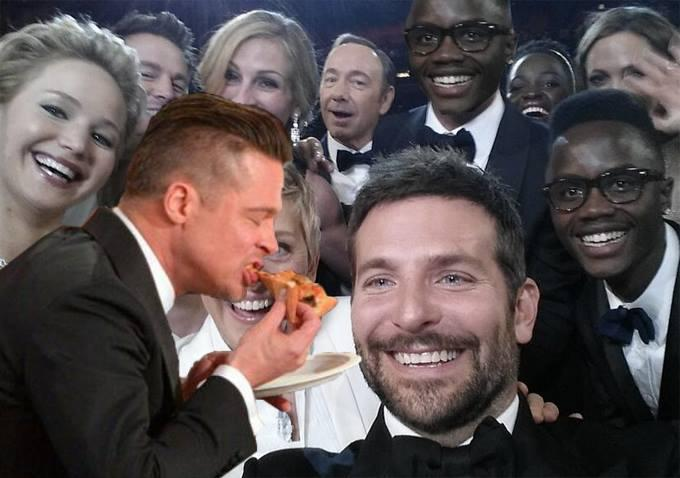 Brad Pitt Pizzabombs the Selfie
