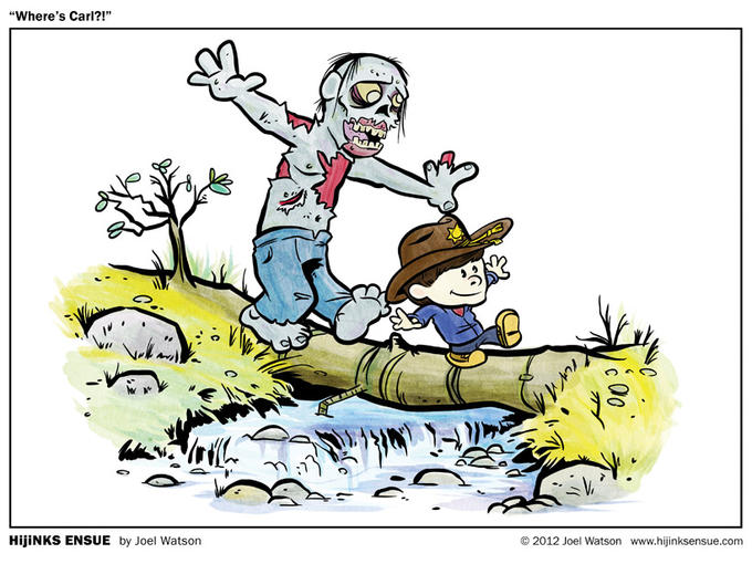 Calvin and Hobbes Walking Dead