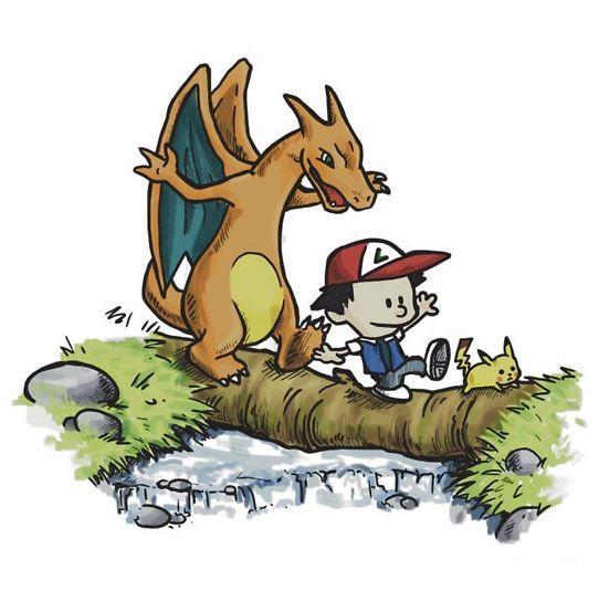 Calvin and Hobbes Pokemon