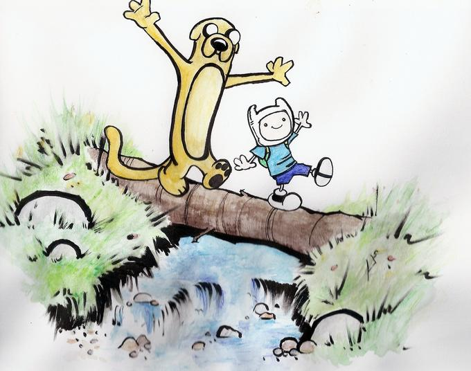 Calvin and Hobbes Adventure Time