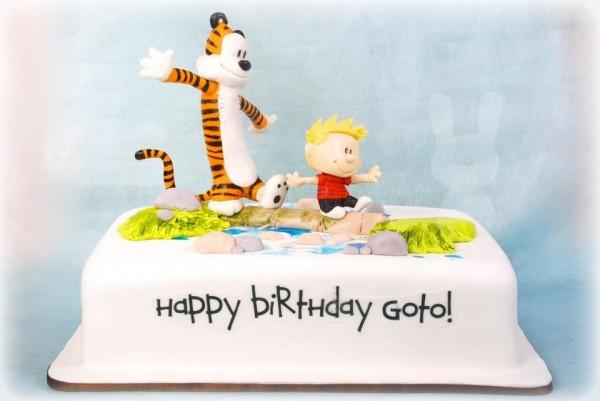 Calvin and Hobbes Birthday Cake