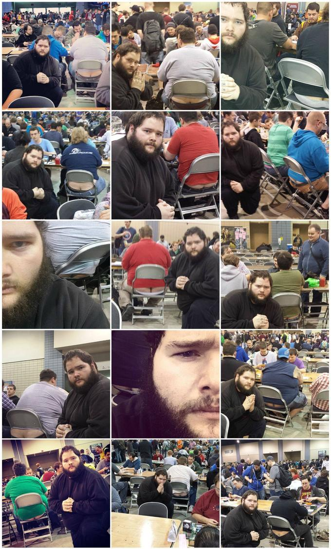 I participated in one of the biggest Magic: the Gathering tournaments of all time this weekend. In an effort to document it, I posed for pictures near people with exposed asscracks. I present to you Grand Prix Richmond Crackstyle.