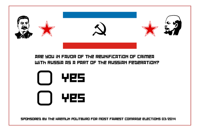 First look at the Crimean referendum ballot...