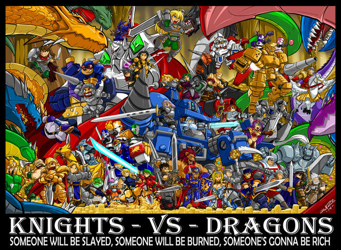 Knights Vs Dragons. Also, HOLY SHIT, THAT IS A LOT OF CHARACTERS!!!