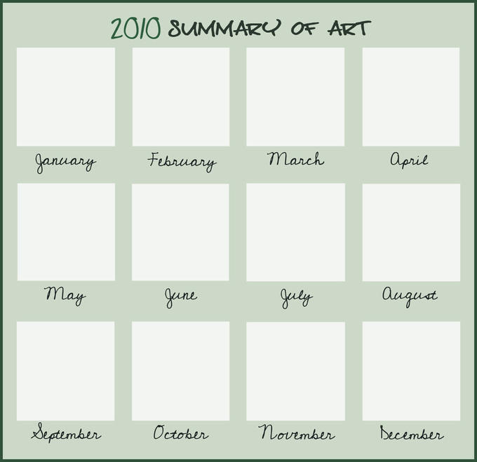 2010 Summary of Art Blank meme