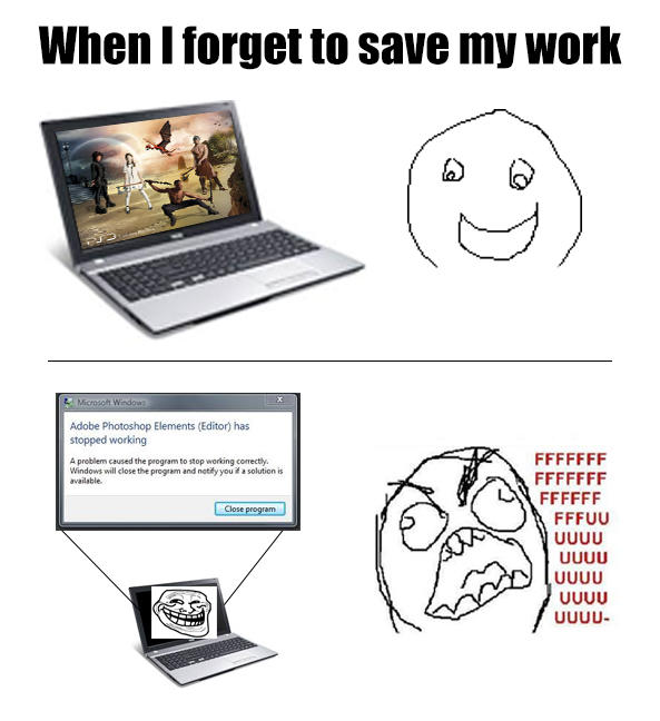 saving your work Saving your work is a good idea, even when you aren't finished creating your document when jane saves her work, it prevents it from being lost if there is an.