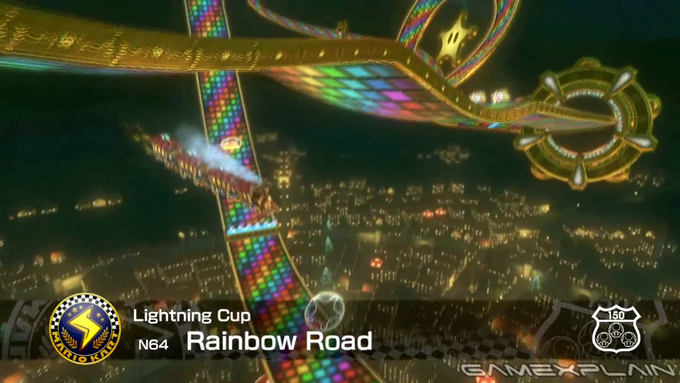 Rainbow Road From Mario Kart 64 Returns in Mario Kart 8