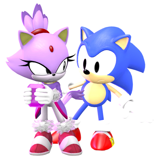Classic Sonic & Blaze