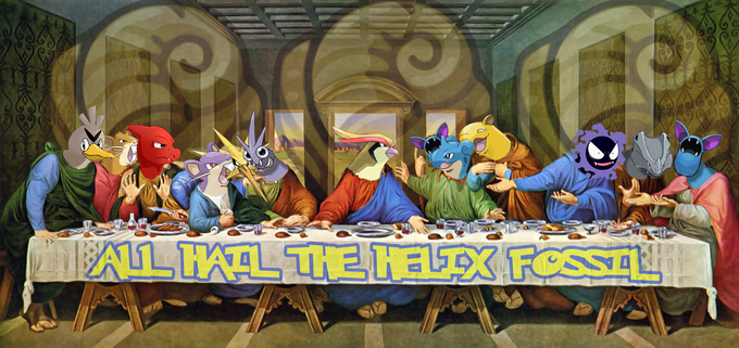 The Last Supper, as lead by our savior, Bird Jesus.