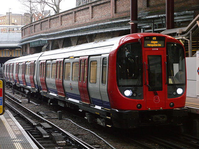 London Underground S8 Stock has a design that resembles Deadpool's face when lit up.