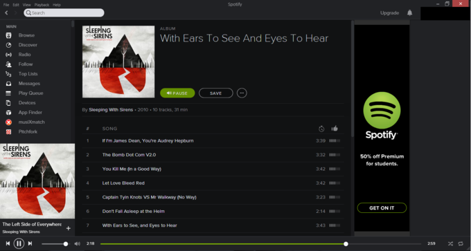 What are you listening to right now, KYM?