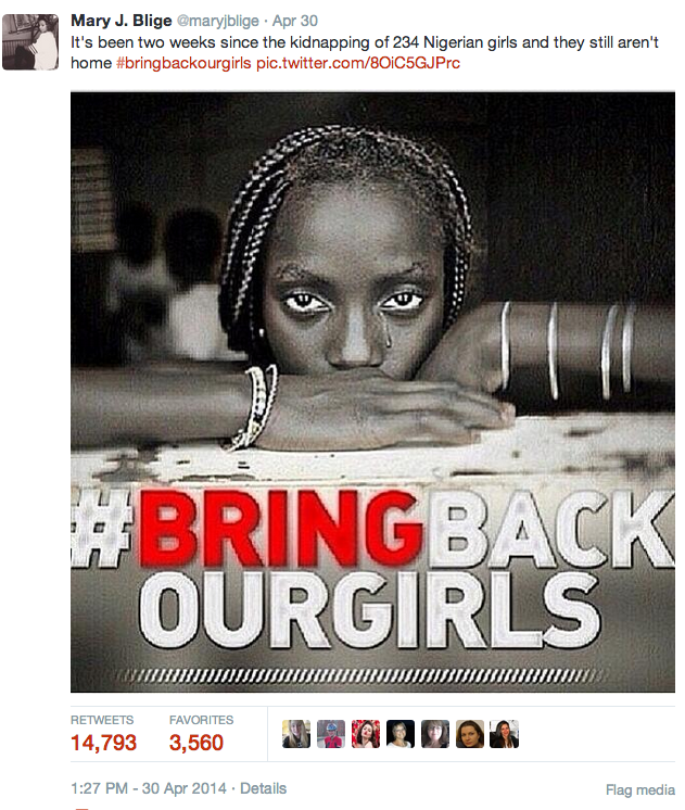 Mary J Blige BringBackOurGirls