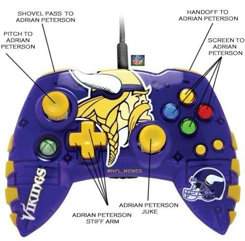 Adrian Peterson NFL Xbox Controller