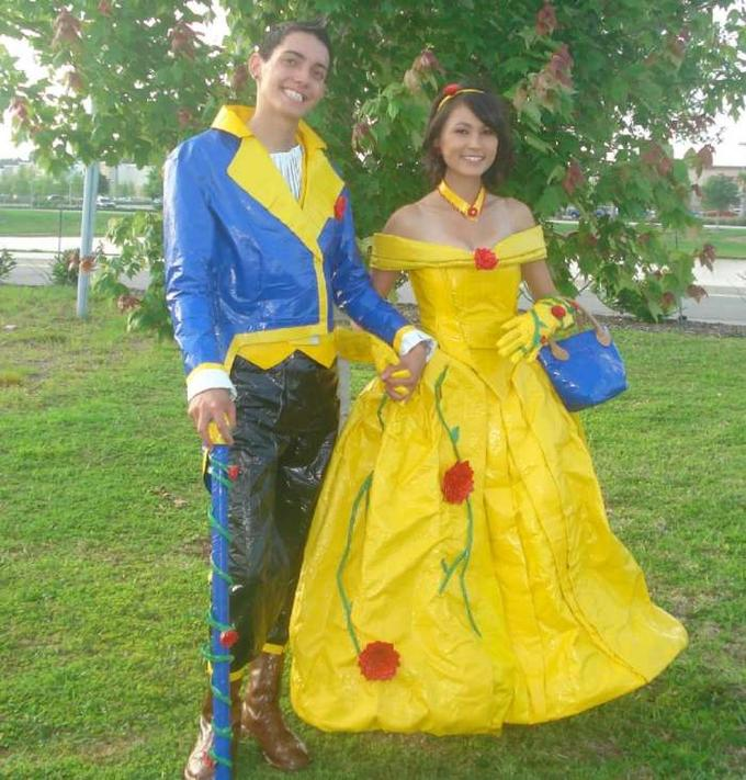 duct tape Beauty and the Beast