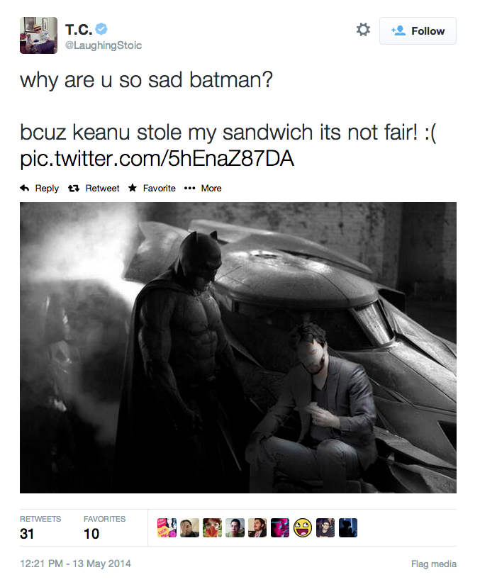 Batman's sandwich