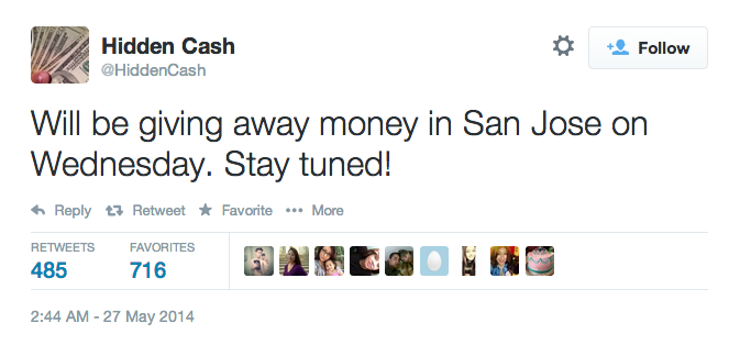 Hidden Cash San Jose
