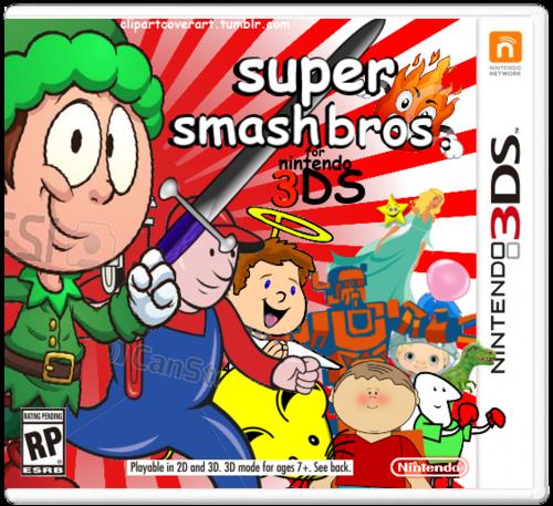 Super Smash Bros For 3ds Clip Art Covers Know Your Meme