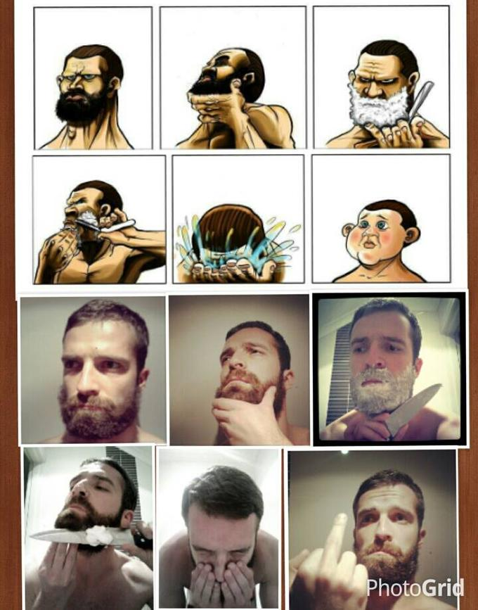 Funny beard shaving meme - photo#48
