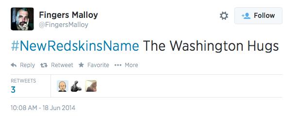 first #newredskinsname