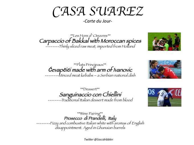 Menu at Casa Suarez