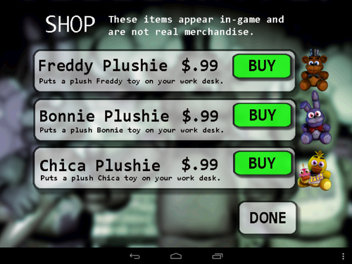 The android version of fnaf five nights at freddy s know your meme