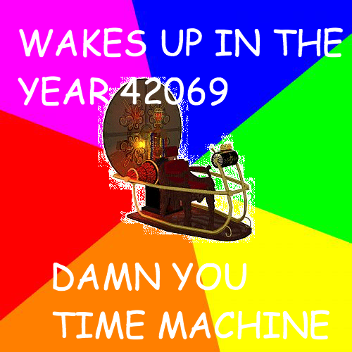 time machine meme