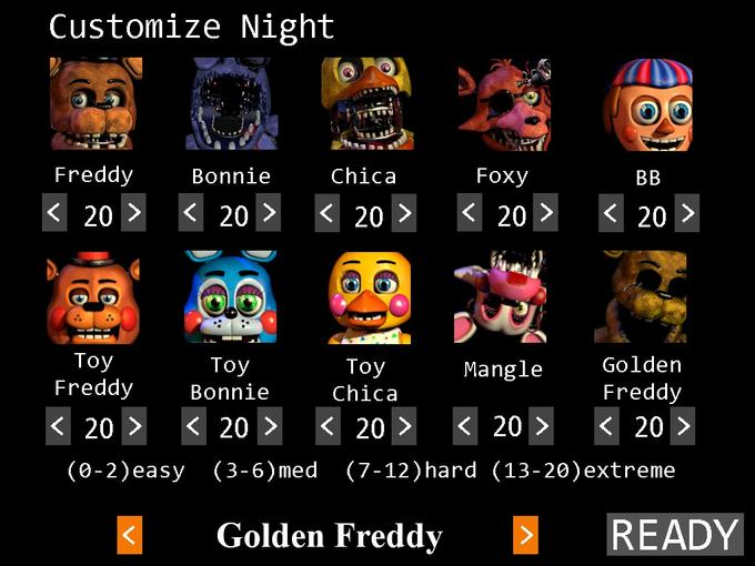 Five nights at freddys and five nights at freddys 2 mix up sign up
