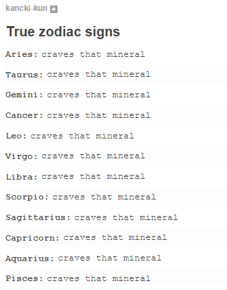 True Zodiac Signs I Crave That Mineral Know Your Meme