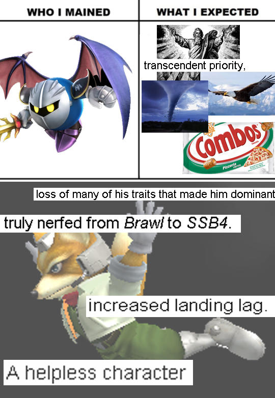 Who I Mained Meta Knight Super Smash Brothers Know