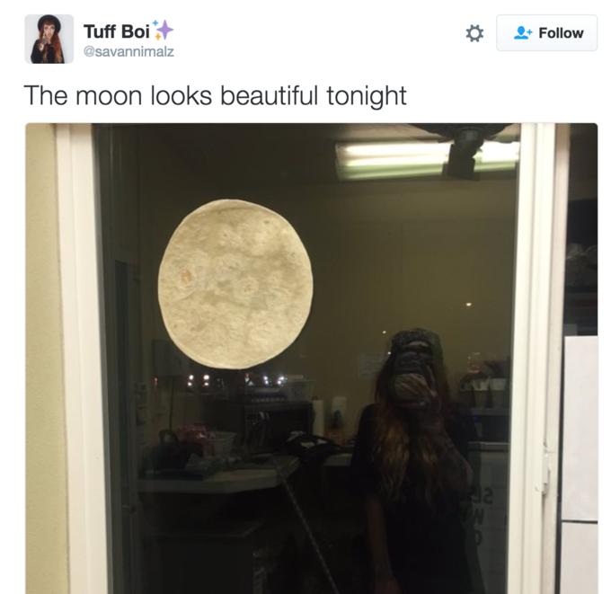 a96 tortilla supermoon know your meme,Tortilla Moon Meme