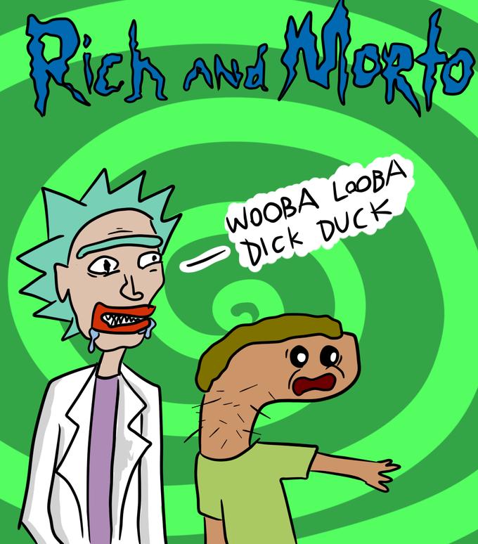 crude rich and morto drawing fan art