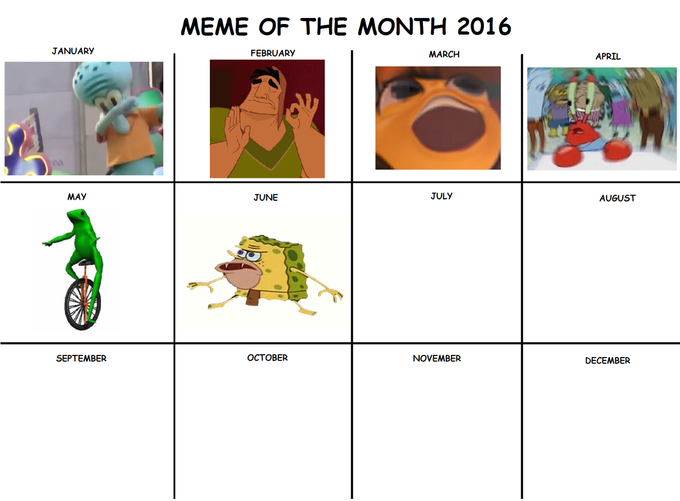 a8c meme of the month calendars know your meme