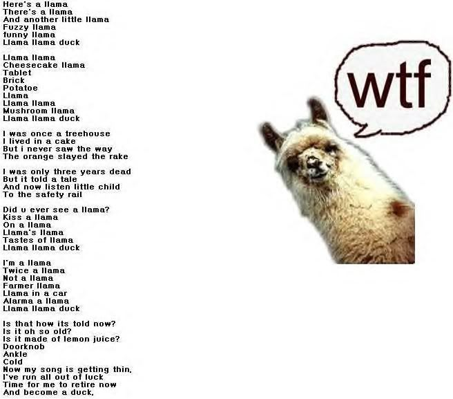 Llama Song (with official MP3) - YouTube