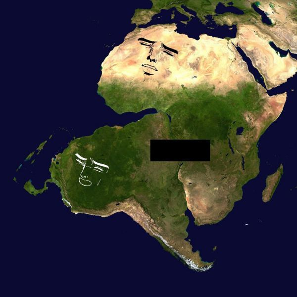 The true size of africa map exaggerates the size of european 3 itt africa to the rest of the world http gumiabroncs Choice Image
