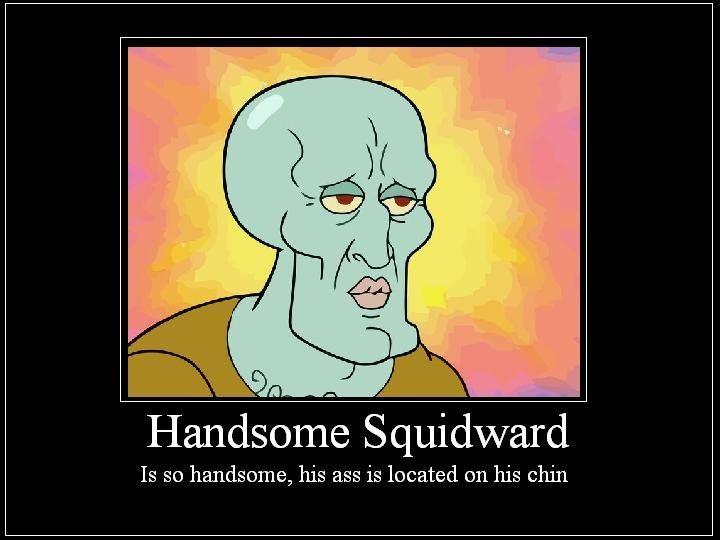 [Image - 56560] | Handsome Squidward/Squidward Falling ... Funny Spongebob And Patrick Memes