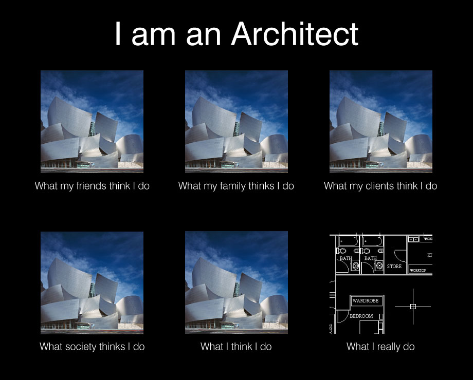Image 252021 what people think i do what i really for How do architects think
